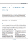 Business Process Reengineering revisited