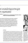 Het veranderingsvermogen van organisaties