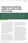 Organisatieverandering, conflict en macht