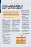 Tien managementrollen: Henry Mintzberg (1939)