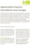 Appreciative Inquiry: Veranderen met energie